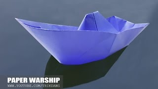 Origami for Kids: How to make an Origami Boat That Floats on Water | Warship