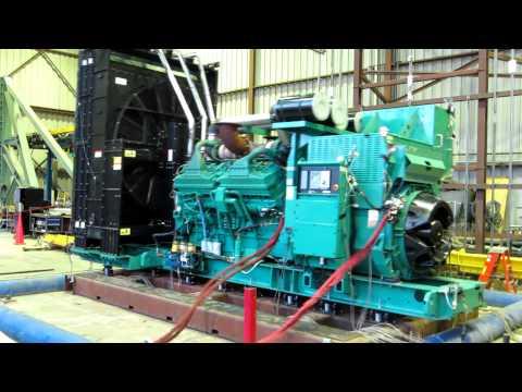 A high-range Cummins Generator in a Seismic Shaker Test