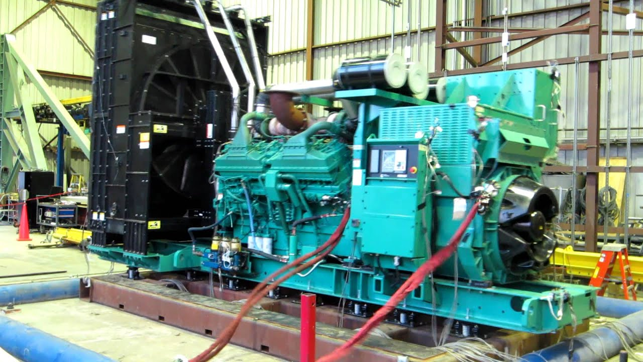A high range Cummins Generator in a Seismic Shaker Test