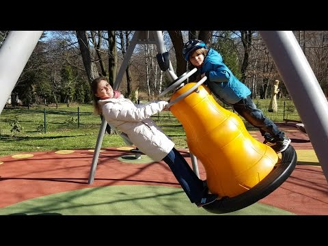 Playground Spring Family Fun - Fastest Slide EVER !