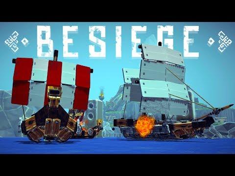 Besiege Multiverse - Epic Pirate Ship Battles & High-Flying Car Stunts! - Besiege Multiplayer