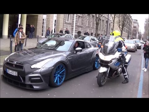 INSANELY LOUD Prior Design GT-R and Gallardo apprehended by POLICE! Revs, Accelerations!