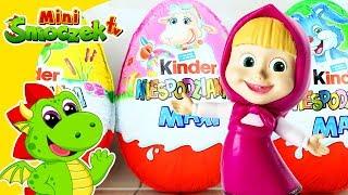 Masha i Niedźwiedź - Wielkie Jajka Niespodzianki Kinder Maxi | Bajki Zabawki Dla Dzieci Po Polsku