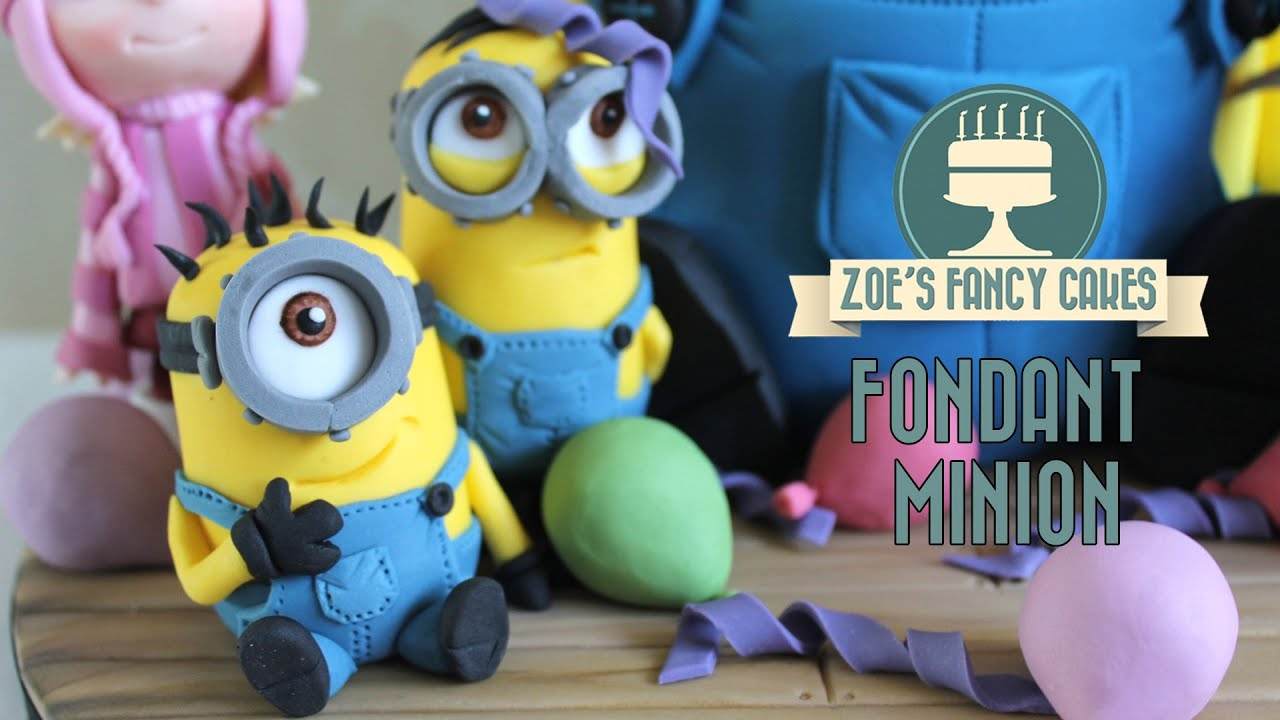Minions How to make a minion model using gum paste or fimo