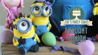 Minions: How to make a minion model using gum paste or fimo despicable me minions