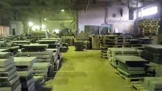 Один из цехов по изготовлению гранитных памятников компании