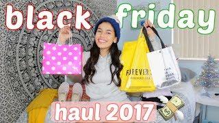 BLACK FRIDAY HAUL 2017 ft. Garage, PacSun, Forever21, VS Pink | Ava Jules
