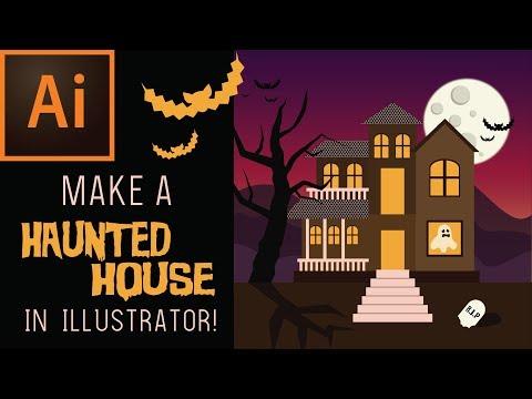 HAUNTED HOUSE ILLUSTRATOR TUTORIAL thumbnail