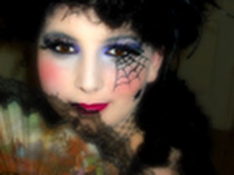 Maquillage halloween marquise araign e youtube Maquillage de diablesse facile a faire