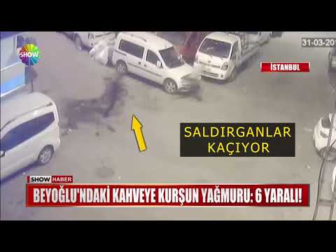 Beyoğlu'ndaki Kahveye Kurşun Yağmuru: 6 Yaralı!