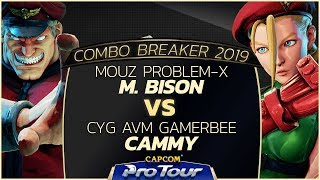 MOUZ Problem-X (M. Bison) vs CYG AVM Gamerbee (Cammy) - Combo Breaker 2019 Top 96 - CPT 2019 thumbnail