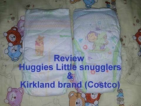 Review Huggies little snuggles & kirkland diapers