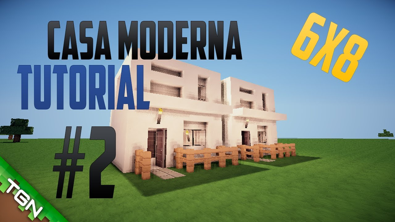 Casa moderna 2 6x8 youtube for Casa moderna 7x7
