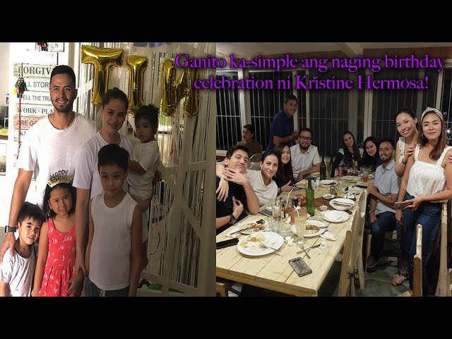 Ganito ka simple ang naging birthday celebration ni Kristine Hermosa!