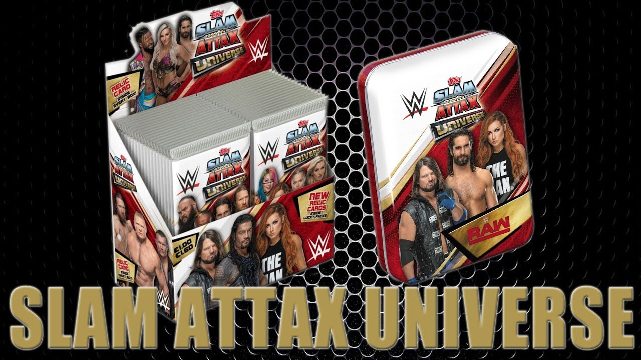 TOPPS WWE SLAM ATTAX UNIVERSE MULTIPACK TRADING CARDS SLAM ATTAX WRESTLING CARD