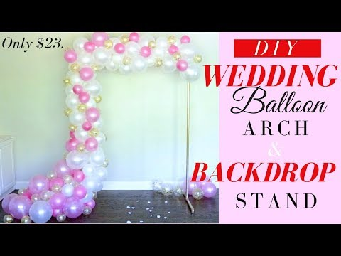 DIY Balloon Garland | Easy PVC  DIY Backdrop Stand | ONLY $23.