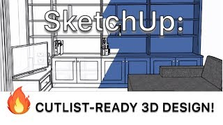 Creating Accurate Build-Ready 3D Fitted Furniture Designs in SketchUp