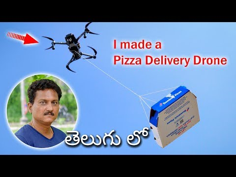 I made a Pizza Delivery Drone in Telugu...