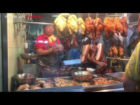 Macau China Fresh Sea Foods Market - Street walking - Street Foods on The Market City
