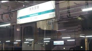 深夜の浅虫温泉駅に到着~出発する青い森鉄道下り701系の車窓
