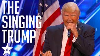 The Singing Trump on America's Got Talent 2017 | Got Talent Global