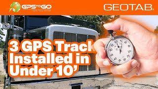 GPS Tracker Installed on 3 BIG RIGs in Under 10 Minutes, by GPS to GO