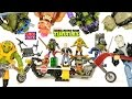Mega Bloks TMNT Out of the Shadows Rocksteady & Bebop Moto Mikey Turboskate & Donnie Drone Pursuit