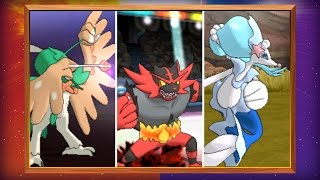 Discover the Final Evolutions of the Starter Pokémon in Pokémon Sun and Pokémon Moon!