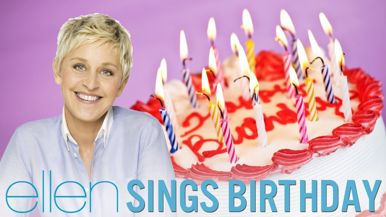 Ellen Degeneres Singing Birthday By Katy Perry Youtube