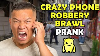 Crazy Phone Robbery Brawl - Ownage Pranks