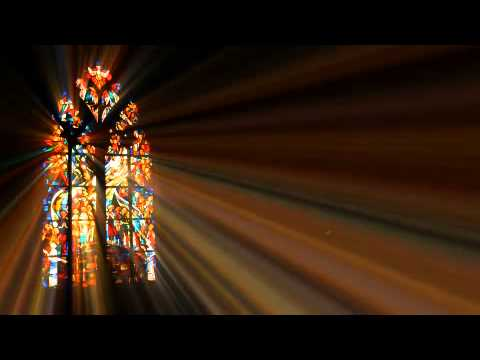 Light Rays Through Stained Glass Motion Background Youtube