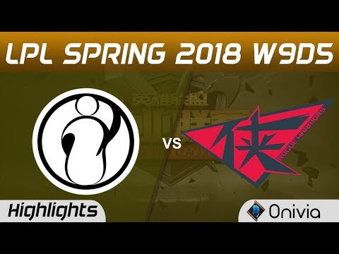 IG vs RW Highlights Game 1 LPL Spring 2018 W9D5 Invictus Gaming vs Rouge Warriors  Onivia