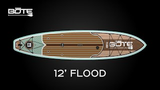 BOTE 2016 Flood 12' All-Around Fishing and Surfing Paddle Board