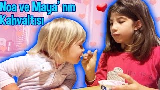 Maya And Noa Having Breakfast By Themselves | Our Family