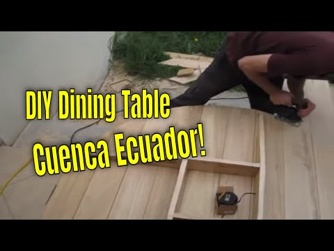 DIY FURNITURE BUILDING in Cuenca Ecuador!  - Making the Rustic Dining Table and Chairs