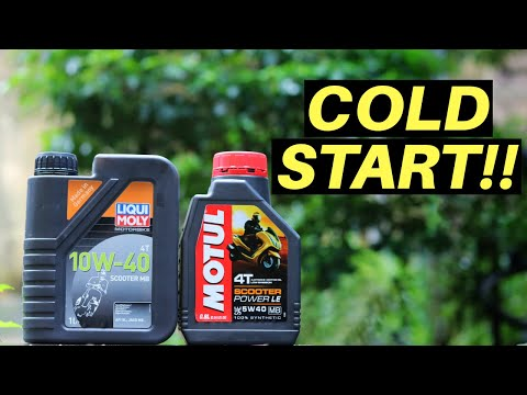 LIQUI MOLY SCOOTER ENGINE OIL VS MOTUL SCOOTER POWER LE, COLD START PROBLEM, BEST SCOOTER ENGINE OIL