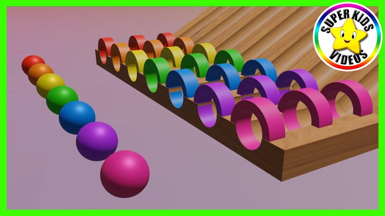Kleuren en Ballen ☆ Kleuren Leren Nederlands voor Peuters en Kleuters ☆ Leerzame Kinderfilmpjes