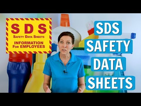 SDS (Safety Data Sheets) For House Cleaners & Cleaning Chemicals