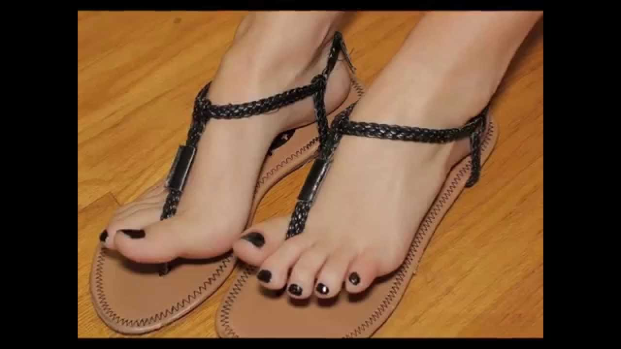 sexy feet in high heel thong sandals