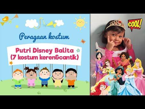 Disney Princess Dresses Kids Runway | Anak kecil peragaan gaun Putri Disney