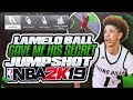 LAMELO BALL GIVES ME HIS SECRET CUSTOM JUMPSHOT IN NBA 2K19 • BEST JUMPSHOT IN NBA 2K19?