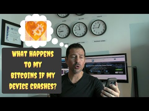 What happens to my bitcoins if my device crashes?