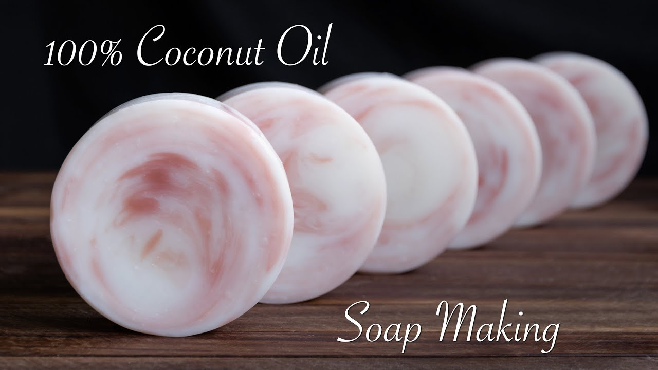 Coconut Oil Soap Making - YouTube