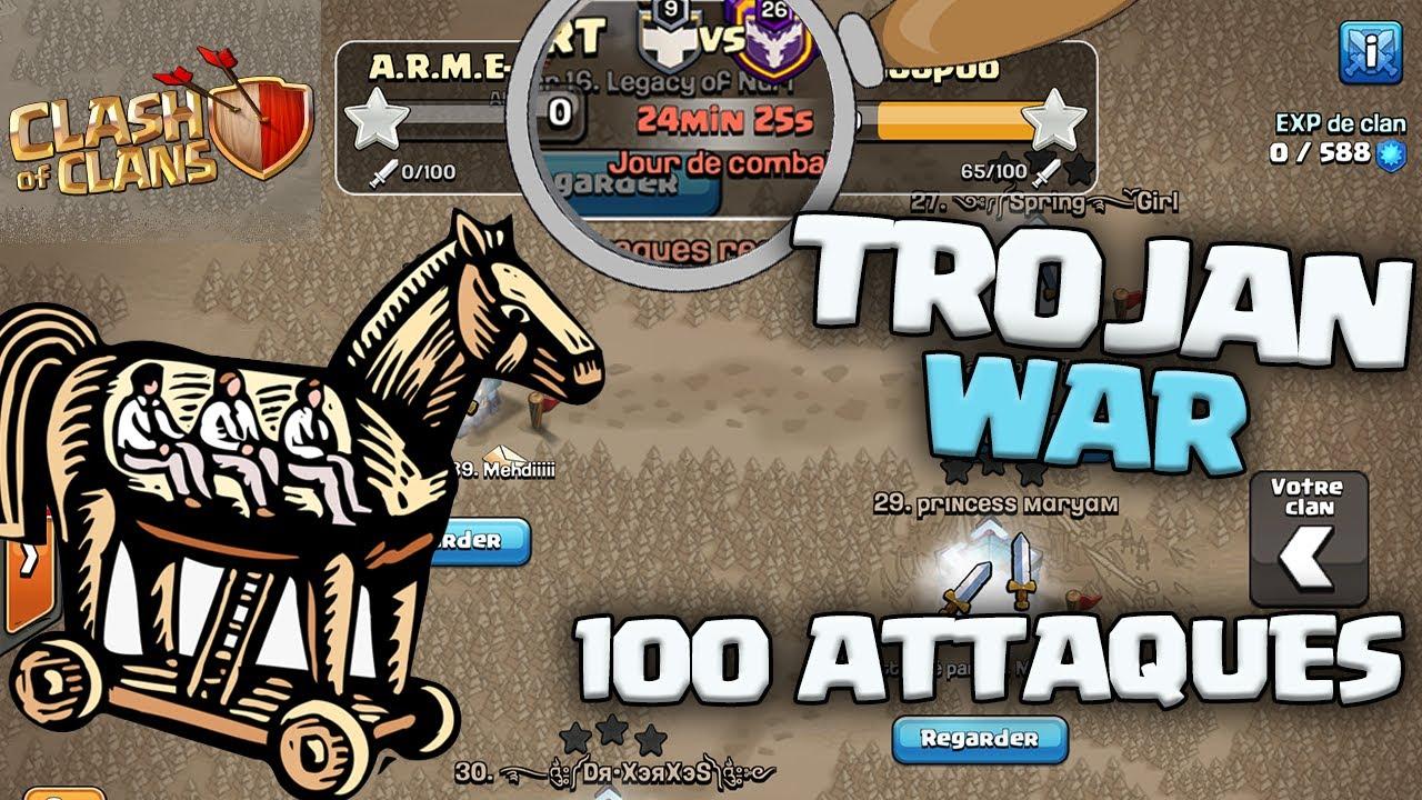 100 ATTAQUES D'UN COUP ! CHEVAL DE TROIE 2 !! Clash of clans Fr