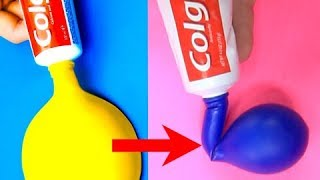 I try 17 amazing life hacks with balloons by 5-Minute Crafts. WATCH MORE FUNNY VIDEOS!