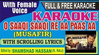 Saaki Saaki Karaoke With Female Voice and scrolling lyrics-full karaoke