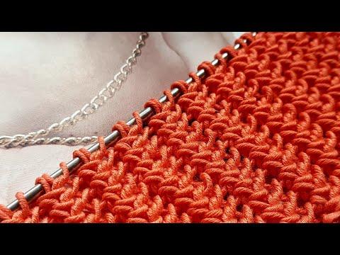 Рельефный узор спицами для вязания пуловеров, шарфов, кардиганов.🍒 Crochet Pattern. Strickmuster.