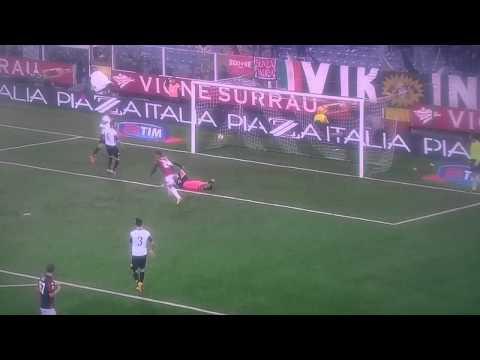 Gol di Matri in Cesena-Genoa 0-3