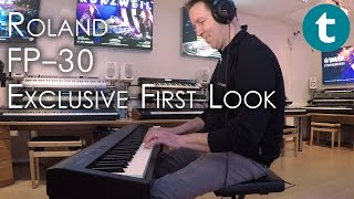 roland fp 30 digital piano exclusive first look