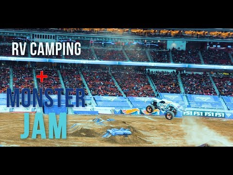 Camping at Sanborn County Park + MONSTER JAM | RV Life | Vlog